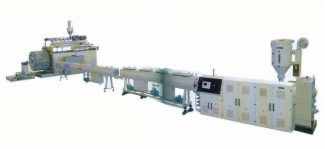 PE HOLLOW-WALL WINDING PIPE EXTRUSION LINE